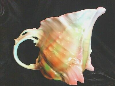 "Angel's Actn Vtg Rare Sea Shell Figure 7"" Milk Pitcher Royal Bayreuth Blue Mark"