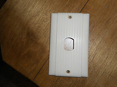 Vntg Despard Uniline Single Face Plate Cover Ivory Bakelite Plastic Ribbed