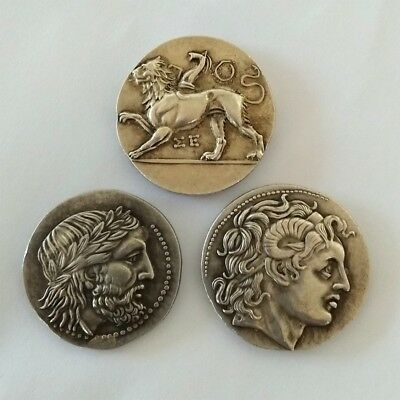 3 Greek Coins Alexander the Great Tetradrachm Greek Greece Gift