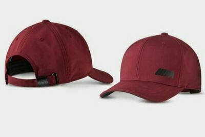 Original BMW ///M Logo Cap M Basecap bordeaux red 2019 M Cap