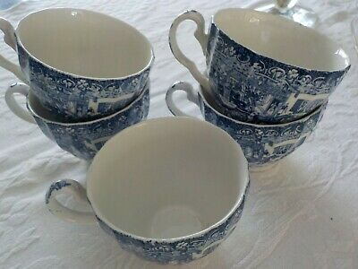 5 Johnson Brothers Coaching Scene Made in England Coffee or Tea Cups