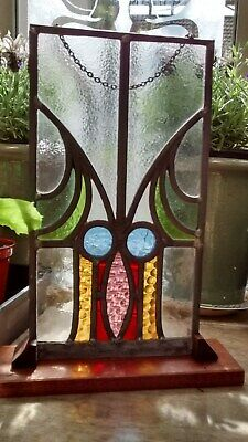 Stained glassOwl Art Nouveau (finished item 7 X 12 inches approx.)