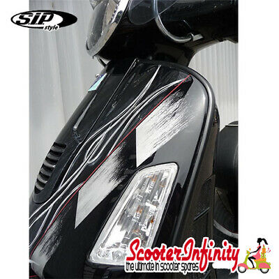 Beading / Trim Legshield Black Plastic LEFT & RIGHT Vespa GTS/GTS Super /GTV/GT