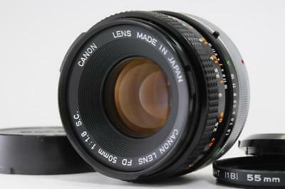 Exc++++ Canon FD 50mm F1.8 S.C Manual Focus Lens w/Filter  from Japan