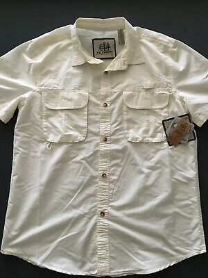 987369a3184 NWT Tallwoods Element Wear SS Fishing Shirt 30 UPF / Water Resistant - Size  L