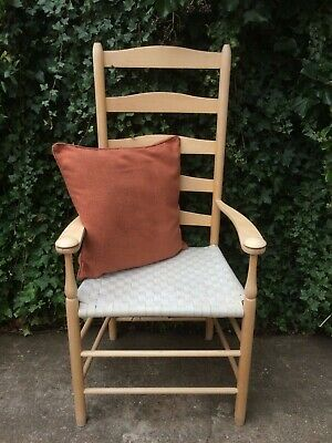 Contemporary Shaker Limited Beech Carver Ladderback Armchair Occasional Chair
