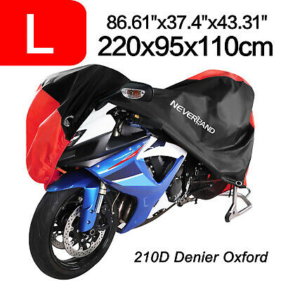 L 210D Oxford Dust Bike Motorcycle Cover Waterproof Outdoor Rain Scooter Protect