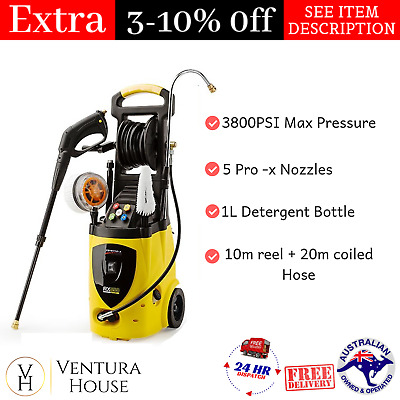 Jet Usa Electric High Pressure Washer Water Cleaner 3800 PSI New Water Hose Pump
