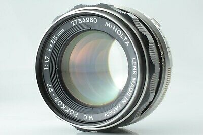 [Exc+++++] Minolta MC ROKKOR-PF 55mm F/1.7 MF Standard Lens MD Mount from Japan