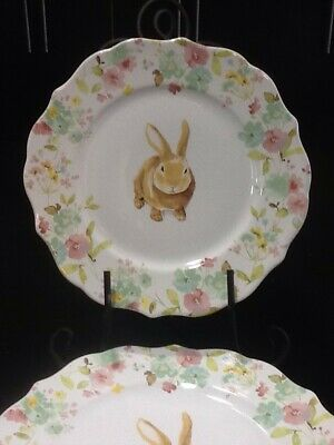 222fifth Sydney  Bunny Easter 4 New Dinner Plates