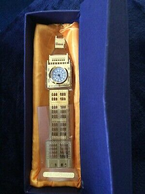 Glass Real Working Big Ben Clock London Souvenir Ornament Gift.
