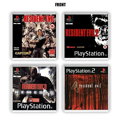 Resident Evil 1 - 4 Inspired Coaster Collection RES Remastered Playstation Style