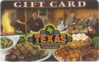 Gift Card: Texas Roadhouse Restaurant (USA) Steaks and People, $0
