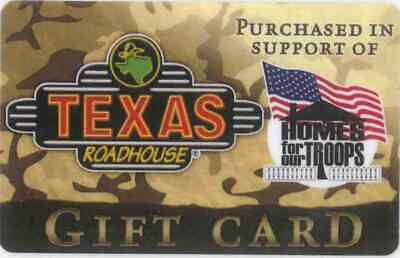 Gift Card: Texas Roadhouse Restaurant (USA) Home for Our Troops, $0