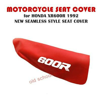 HONDA XR600R XR 600 R 1992 MODEL RED SEAT COVER with WHITE 600R LOGOS