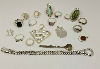 Lot of 134 Grams, Sterling Silver .925 Vintage Jewelry ,Scrap or Wear ,Estate