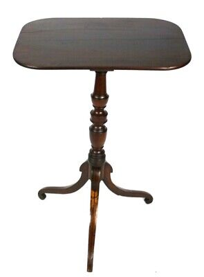 Antique Regency Mahogany Rectangular Pedestal Table - FREE Shipping [P5001]