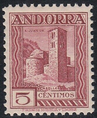 Spanish ANDORRA 1935 Edifil 29ec ** ERROR DE COLOR Spain (ref#7544)