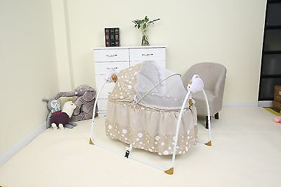 Rocking Crib Bed Swinging Baby Bed Cradle Remote Controlled MUSICAL