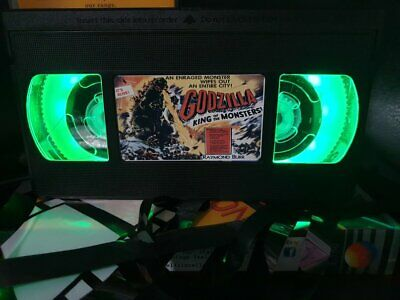 Retro VHS Lamp,Godzilla,Night Light Stunning Collectable, Top Quality!Amazing
