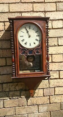 American 8 day striking wall clock for restoration