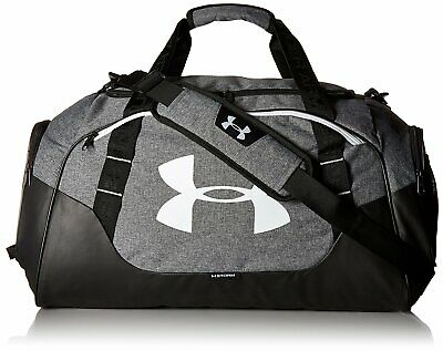 5487d65c7b UNDER ARMOUR UA Undeniable 3.0 Medium Storm Black Silver Gym Duffle ...