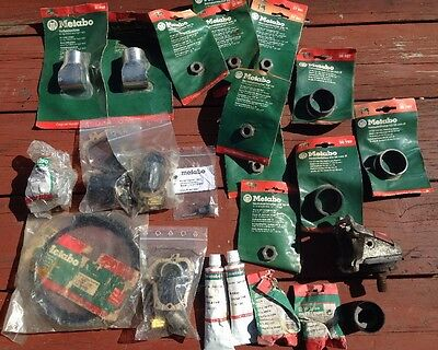Lot Of Misc Metabo Parts Metabo Grinders/Part Never Used In Packaging