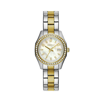 Caravelle New York Women's Quartz  Two-Tone Band Watch 45M113