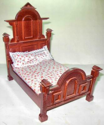 Vintage Victorian Bed Mahogany #3476 Dollhouse Furniture Miniatures