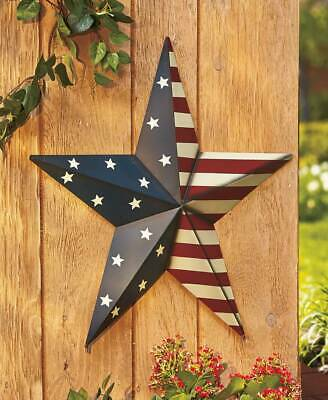 "Huge 24"" Rustic Country Patriotic Barn Stars & Stripes American Flag Wall Art"