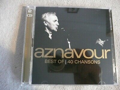 Charles Aznavour Best Of 40 Chansons (Universal 2013 2CD's) New