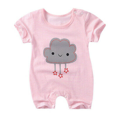 Baby Newborn Infant Boy Girl Romper Summer Jumpsuit Bodysuit Outfits Clothes 1pc