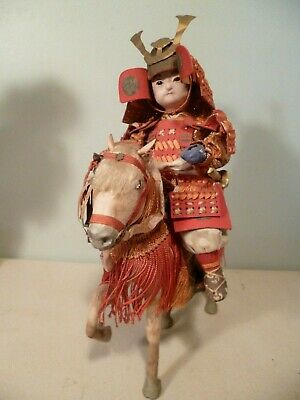 Price Cut!      Boy Samurai Warrior On Horseback Both Have Glass Eyes