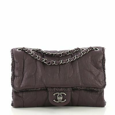 b44f34a1bbcc CHANEL PURPLE WOVEN Lambskin Leather Paris-Versailles Small Boy Bag ...