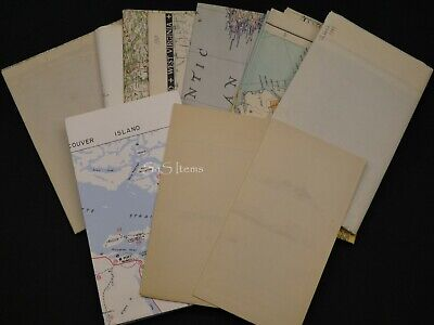 10 x Vintage Assorted Maps USA Canada & World National Geographic+ 1930s-80s