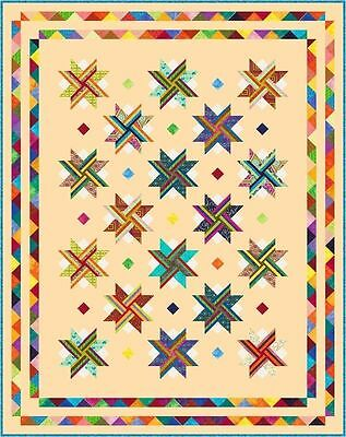 """VIVACIOUS - 96"""" x 76.5"""" - Pre-cut Quilt Kit by Quilt-Addicts King Single size"""