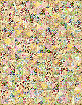 """SHABBY CHICK - 70"""" x 58.5"""" - Pre-cut Quilt Kit by Quilt-Addicts Single size"""