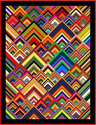 """PINNACLES - 75"""" x 58"""" - Pre-cut Quilt Kit by Quilt-Addicts Single"""