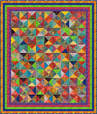 """NUSA DUA - 82"""" x 70"""" - Pre-cut Quilt Kit by Quilt-Addicts King Single size"""