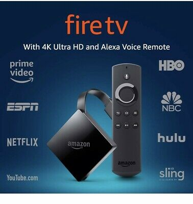 Amazon Fire TV Streaming Media Player (3rd Gen) w/ 4K ultra HD and Alexa Remote
