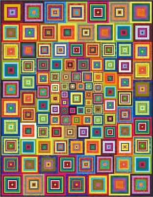 """APOCALYPSO - 73"""" x 57"""" - Pre-cut Quilt Kit by Quilt-Addicts Single Size*"""