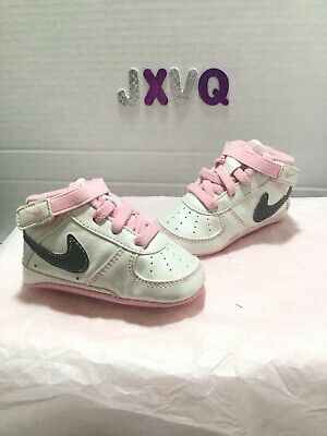0f98e17bf9 RARE Vintage Nike Air Force 1 champagne pink Crib Soft Bottom Baby Size 2c