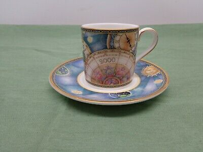 Royal Doulton Millenium 2000 Compass Demitasse Cup and Saucer Set. H-5263 1998
