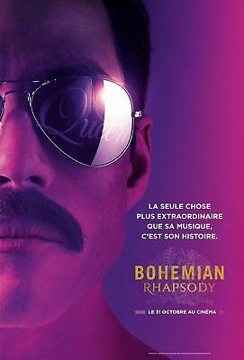 BOHEMIAN RHAPSODY Affiche cinema Originale ROULEE 53x40 Movie Poster QUEEN