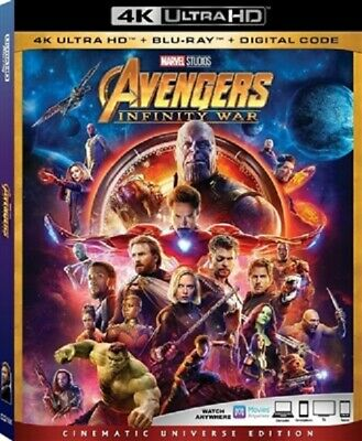 Avengers: Infinity War 4K UHD 4K (used) Blu-ray Only Disc Please Read