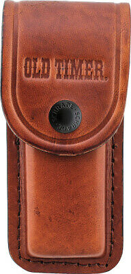 SCHRADE Old Timer LARGE Brown Leather KNIFE Sheath Snap Closure LS2