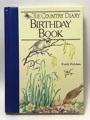 The Country Diary Perpetual Birthday Book Edith Holden Nature Poetry HC *writing