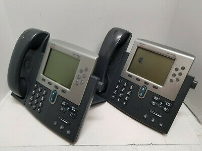 Lot of 3 Cisco IP Phones CP-7961G VOIP Office Telephone Commercial 68-2841-01