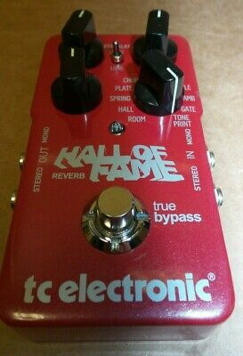 TC Electronic Hall of Fame Reverb Electric Guitar Effect Pedal