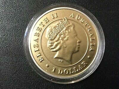 2016 Australia One Dollar Wedge-Tail Eagle .999 Silver Colored Mint State Coin!
